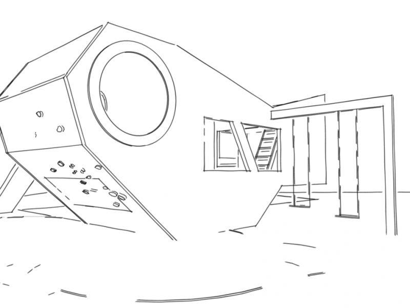 Sketch Fish Cabin